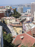 View over the Lower Historic Town Center Towards the Harbor. Chile Photographic Print by Martin Zwick