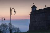 Romania, Transylvania, Brasov, Brasov Citadel, Dawn Photographic Print by Walter Bibikow