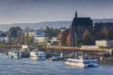 Germany, Nordrhein-Westfalen, Bonn, Rhein Riverfront, Dawn Photographic Print by Walter Bibikow