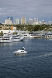 Ft. Lauderdale, Florida. Downtown Skyline from Se 17th. Street Bridge Photographic Print by Charles O. Cecil