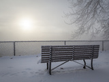 Canada, Ottawa, Ottawa River. Fog-Shrouded Winter Scene Photographic Print by Bill Young