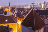 View of Old Town at Dusk, from Toompea, Tallinn, Estonia Photographic Print by Peter Adams