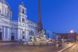 Italy, Rome, Piazza Navona and Sant'Agnese in Agone Church at Dawn Photographic Print by Rob Tilley