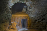 Underground Hot Springs at the Roman Baths in Bath, Somerset, England Photographic Print by Brian Jannsen