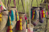 Papua New Guinea, Murik Lakes, Karau Village. Woven Straw Bags Photographic Print by Cindy Miller Hopkins
