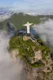Art Deco Statue of Jesus,On Corcovado Mountain, Rio de Janeiro, Brazil Photographic Print by Peter Adams