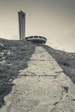 Bulgaria, Shipka Pass, Ruins of the Soviet-Era Buzludzha Monument Photographic Print by Walter Bibikow