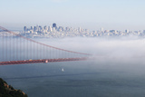 California, San Francisco Golden Gate Bridge Disappearing into Fog Photographic Print by John Ford