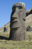 Chile, Easter Island. Rapa Nui NP, Historic Site of Rano Raraku Photographic Print by Cindy Miller Hopkins