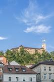 Slovenia, Ljubljana, Old Town and Ljubljana Castle Photographic Print by Rob Tilley