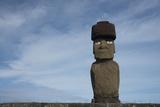 Chile, Easter Island, Hanga Roa. Ahu Tahai, Standing Moai Statue Photographic Print by Cindy Miller Hopkins