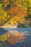 Fall Colors Reflect in the Saco River, New Hampshire. White Mountains Photographic Print by Jerry & Marcy Monkman