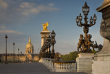 Dawn over Pont Alexandre III with Hotel les Invalides, Paris, France Photographic Print by Brian Jannsen