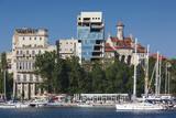 Romania, Black Sea Coast, Constanta, Tomis Tourist Port and Marina Photographic Print by Walter Bibikow
