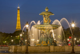 Fountain of Rivers at Place de La Concorde, Paris, France Fotodruck von Brian Jannsen