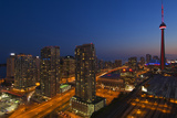 Toronto. City at Dusk with Cn Tower Photographic Print by Mike Grandmaison