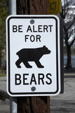 Bear Warning Sign, Silver Lake Resort, Eastern Sierra, California Photographic Print by David Wall