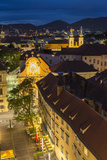 Town View and Rooftops at Dusk, Graz, Austria Photographic Print by Peter Adams