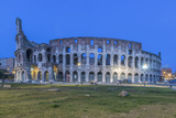 Italy, Rome, Twilight Colosseum Photographic Print by Rob Tilley
