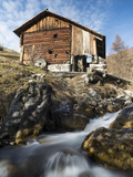 Watermill, Viles of Mischi Und Seres, Campill, South Tyrol, Italy Photographic Print by Martin Zwick