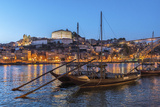 Port Wine Boats on Douro River, Oporto, Portugal Photographic Print by Jim Engelbrecht
