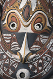 Papua New Guinea, Murik Lakes, Karau Village. Traditional Carved Masks Photographic Print by Cindy Miller Hopkins
