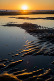 California, Carpinteria, Santa Barbara Channel, Beach at Low Tide Photographic Print by Alison Jones