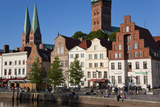 Old Town by River Trave at Lubeck, Schleswig-Holstein, Germany Photographic Print by Peter Adams