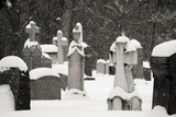 Ottawa, Canada, Beechwood Cemetery. Snow-Covered Gravestone Photographic Print by Bill Young