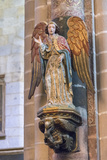 Portugal, Evora, Cathedral of Evora, Angel Statue Photographic Print by Jim Engelbrecht