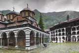 Walter Bibikow - Bulgaria, Southern Mountains, Rila, Rila Monastery, Exterior Fotografická reprodukce