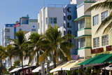 Art Deco Area with Hotels, Miami, Florida, USA Photographic Print by Peter Adams