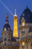 Eiffel Tower Viewed from Passy District, Paris, France Photographic Print by Brian Jannsen