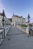 Slovenia, Ljubljana, Triple Bridge at Dawn Photographic Print by Rob Tilley