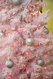 Pink Frosted Christmas Tree, Palm Springs, California, USA Photographic Print by Julien McRoberts