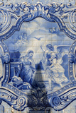 Lamego, Portugal, Shrine of Our Lady of Remedies, Azulejo Photographic Print by Jim Engelbrecht