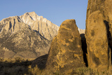 Lone Pine Peak, Eastern Sierras, Alabama Hills, Lone Pine, California Photographic Print by Rob Sheppard