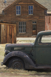Derelict Vintage Truck and Old Buildings, Bodie Ghost Town, California Photographic Print by David Wall