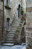 Italy, Civita de Bagnoregio Staircase Photographic Print by John Ford