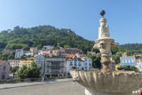 Portugal, Sintra, Sintra Palace Fountain Overlooking the Main Square Photographic Print by Jim Engelbrecht