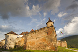 Romania, Transylvania, Brasov, Brasov Citadel, Sunset Photographic Print by Walter Bibikow
