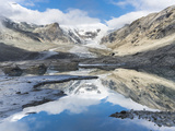 Mt. Johannisberg at Mt. Grossglockner with Pasterze Glacier. Austria Photographic Print by Martin Zwick