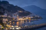 Twilight over Amalfi Along the Amalfi Coast, Campania, Italy Photographic Print by Brian Jannsen
