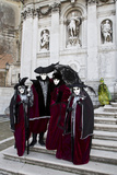 Venice, Italy. Mask and Costumes at Carnival Gathering Photographic Print by Darrell Gulin