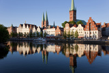 Old Town and River Trave at Lubeck, Schleswig-Holstein, Germany Photographic Print by Peter Adams