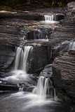 USA, Michigan, Upper Peninsula. Waterfalls in the Presque Isle River Photographic Print by Don Grall