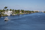 Ft. Lauderdale, Florida. Intracoastal Waterway Looking North Photographic Print by Charles O. Cecil