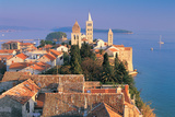 Cityscape at Sunset, Rab Island, Croatia Photographic Print by Peter Adams
