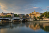 Dawn over River Seine and Pont de La Concorde, Paris, France Photographic Print by Brian Jannsen