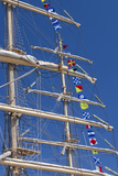 Romania, Constanta, Black Sea Tall Ships Regatta, Signal Flags Photographic Print by Walter Bibikow